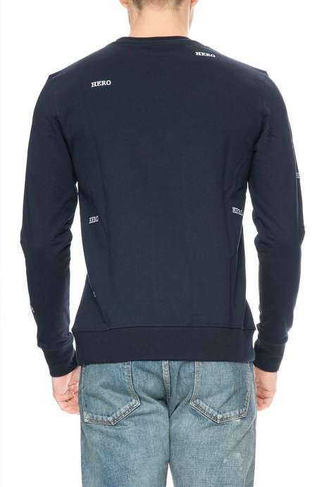 The Goodpeople Hero Embroidered Sweatshirt - Navy