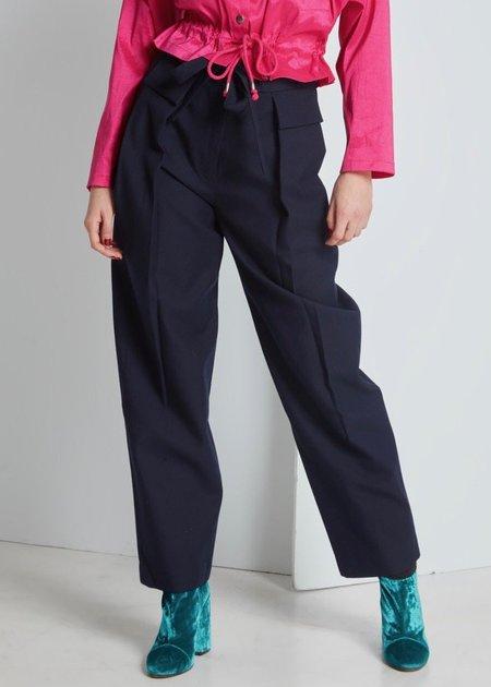 FFIXXED STUDIOS Weekday Trouser - Navy Blue