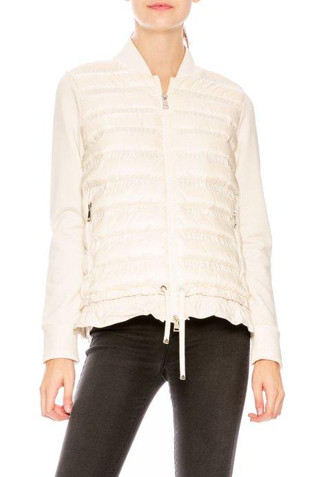 Moncler Maglia Knit Puffer Combo Jacket with Peplum Hem