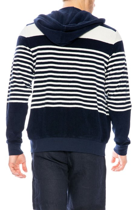 Orlebar Brown Mathers Starboard Hoodie - Stripe