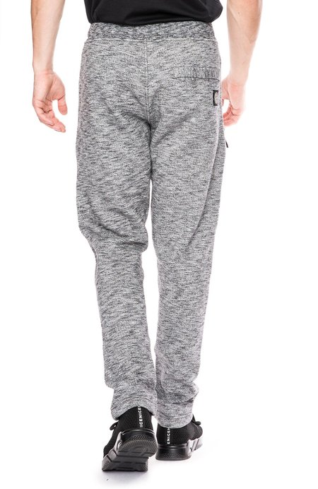 482923b4e8c147 Stone Island Melange Fleece Jogging Pants with Zippers - Steel Gray ...