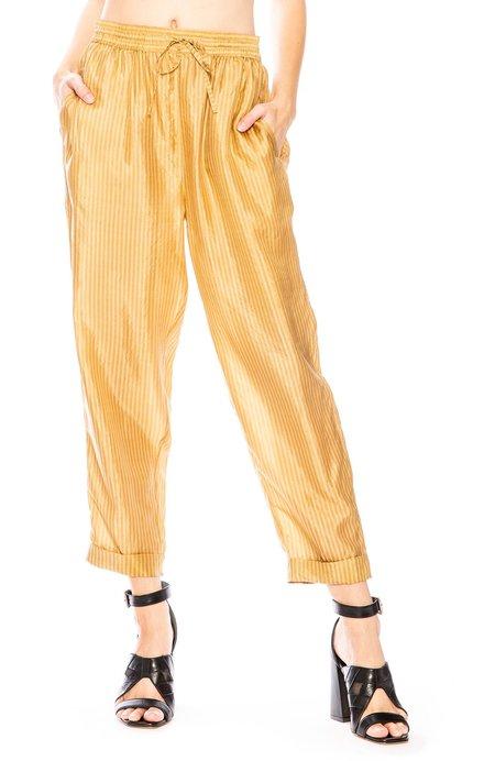 Mes Demoiselles Melomane Stripe Pants - Ecru/Ocre