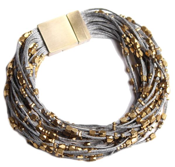 Serefina Glistening Strands Magnetic Cuff Slate