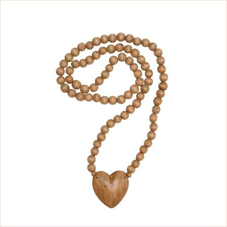 Meusshop.com Handcarved Wooden Bead With Heart
