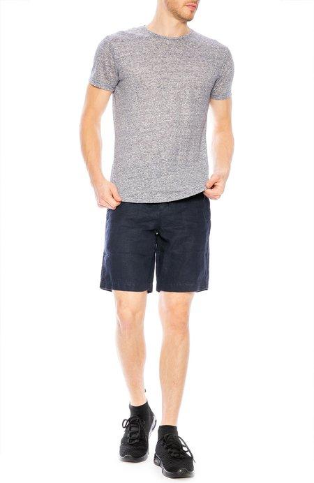 Orlebar Brown OB T Linen Crew Neck T-Shirt - Navy