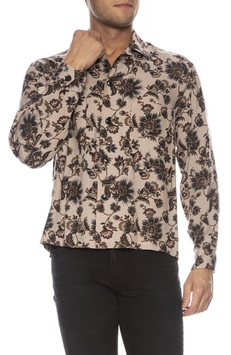 Tomorrowland Officer Shirt - FLORAL BROWN