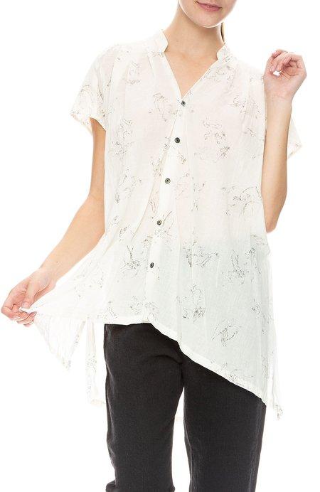 Pas De Calais Oversized Cotton Blouse - Off White