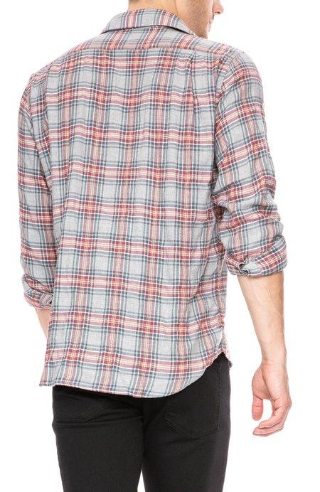 Hartford Penn Plaid Shirt - Red/Blue/Grey