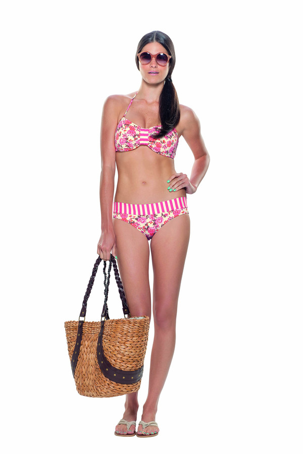 Estivo Stripes and Flowers Two Piece in Pinks BOTTOMS