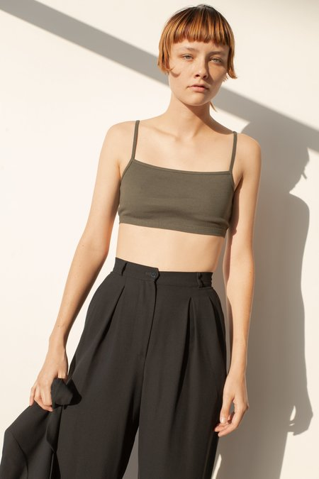 OR Square Neck Bra Top - Olive