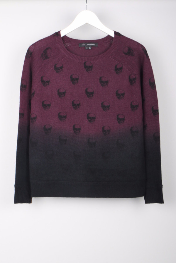Skull Cashmere 50 Cent Dip Dye Sweater