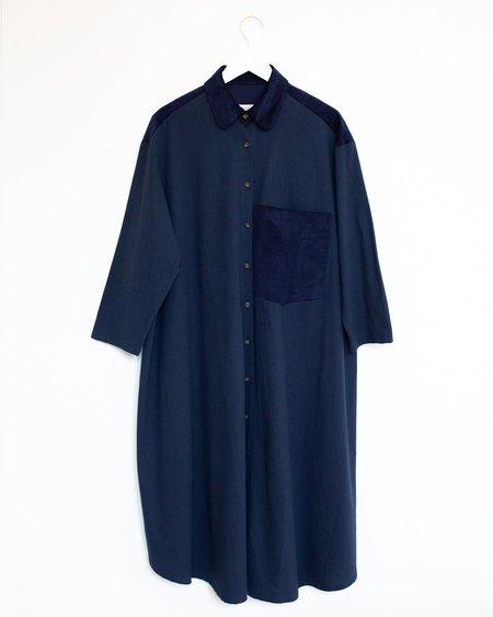 Sunja Link Shirt Dress - Indigo