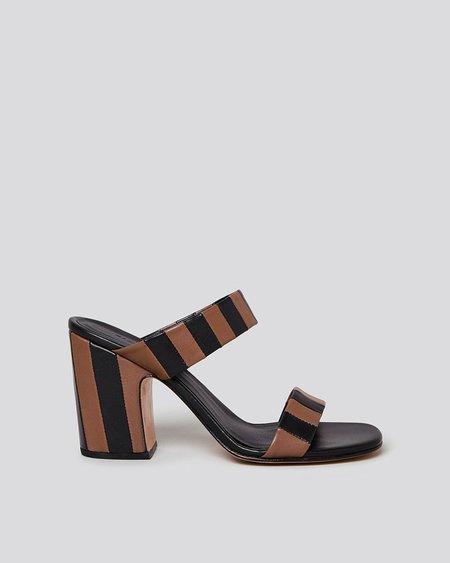 Rachel Comey Spritz Sandal - Black/Dark Brown Stripe