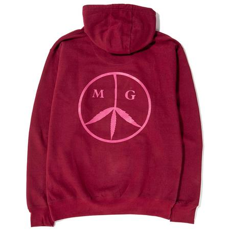 Mister Green Peace Pullover Hoodie - Maroon