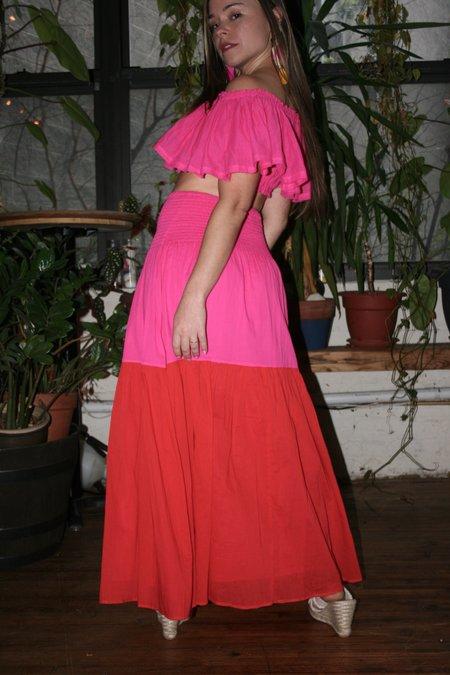 ANAAK Mai Colorblock Maxi Skirt and Dress - Red/Fuschia