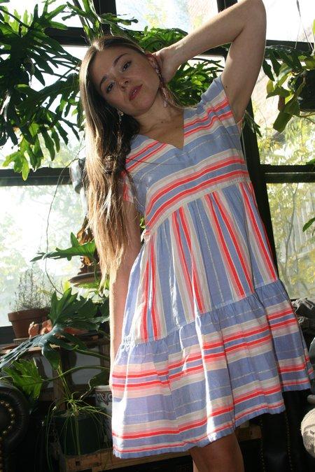 LEMLEM Fiesta Dress - Lavendar Stripe