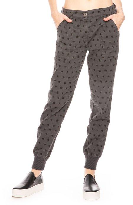 Monrow Woven Star Pants - Vintage Black