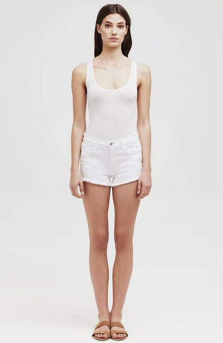 L'agence Zoe Distressed Perfect Shorts - Blanc