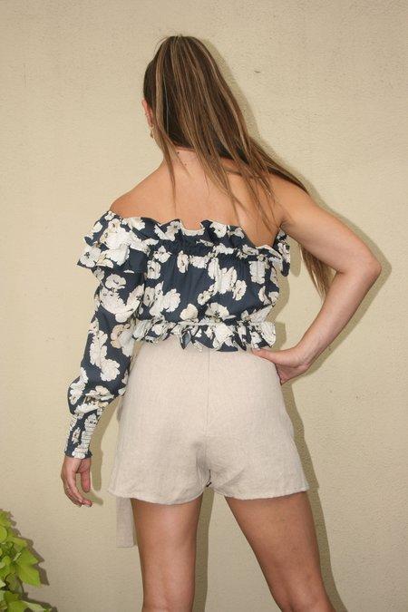 SIR the Label Bellagio One Shoulder Top - Floral Print