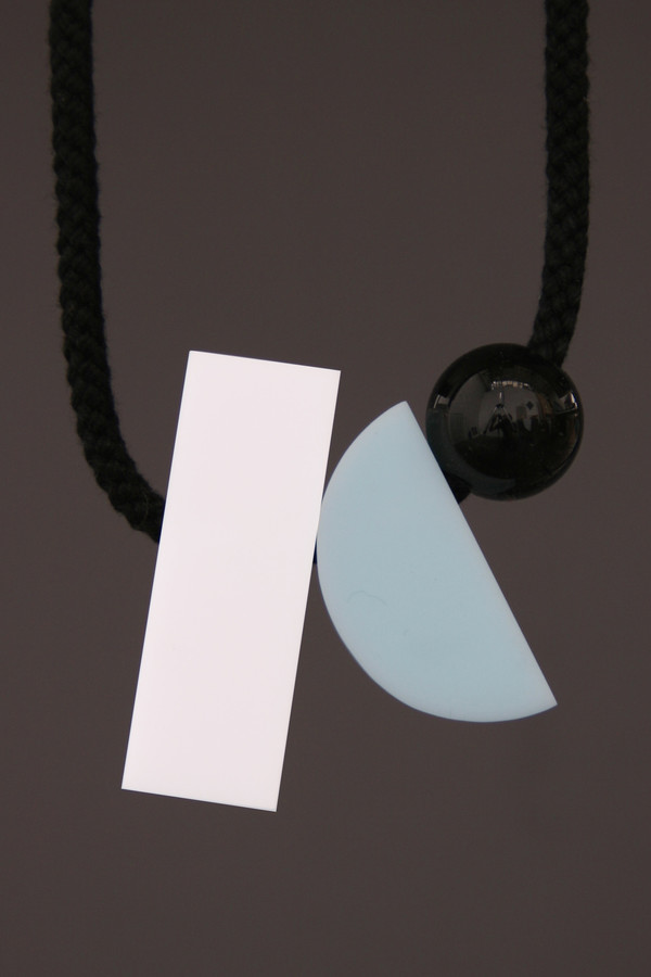 One We Made Earlier Dora Necklace Pale White