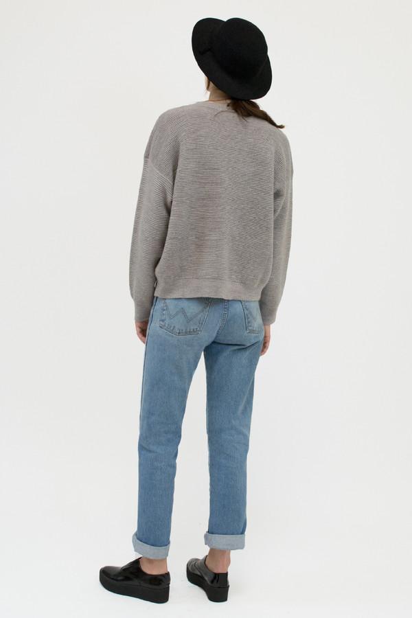 Moonlight Blue Ripple Sweater