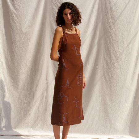 Tana Latorre Lava Mid Dress - Brown