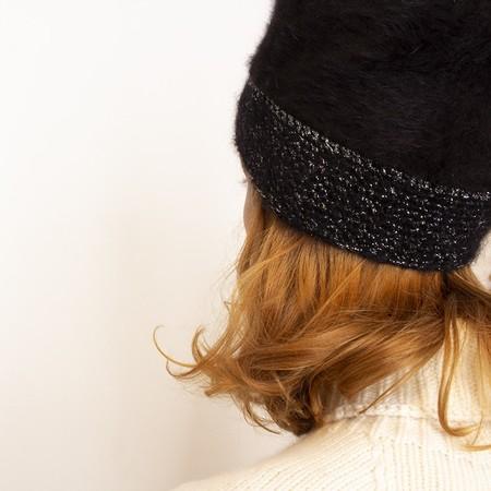 Exquisite j Mohair beanie - black