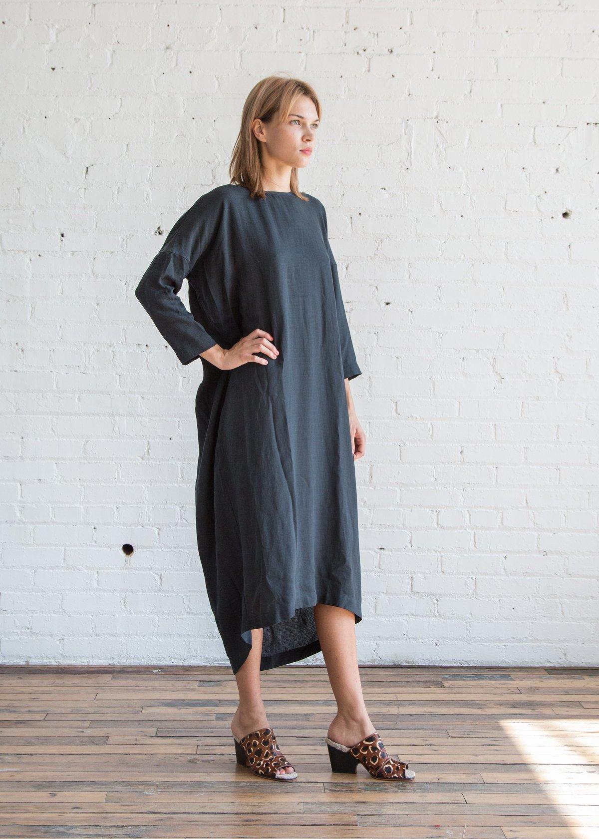 1126fb92aa Black Crane Pleated Cocoon Dress Dark Green Tencel - SOLD OUT ...