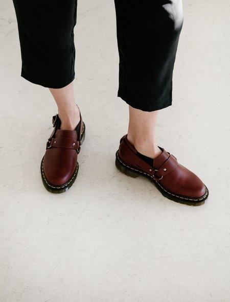 Comme des Garcons Comme des Garcons Dr. Martens Harness Slip Ons - Cherry