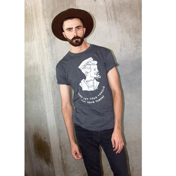 Men's Wolf & Man  @OrnHansen PDX and @1924us Collaboration T shirt
