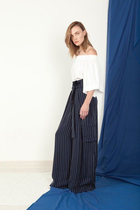 SCHAI Mag Trouser - Typhoon Stripe
