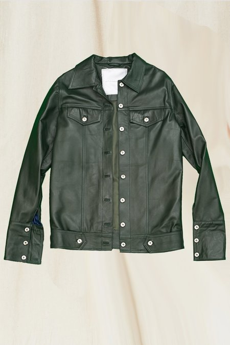 Jovana Markovic Leather Jacket - Forest Green