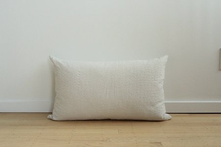 Anara Rise Lumbar Pillow - WHITE