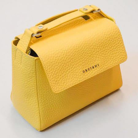 Orciani Sveva Small Leather Handbag - Lemon