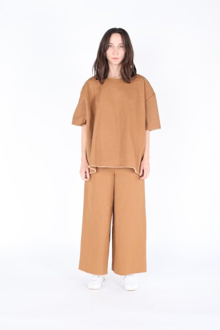 Ashley Rowe Oversize Tee - Tan