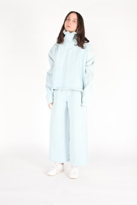 Ashley Rowe Turtleneck - Super Light Denim