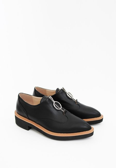 Collection & Co Helicon Zipper Brogue - black