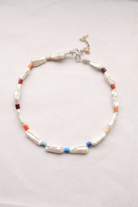 Wald Genie In A Bottle Pearl And Bead Necklace