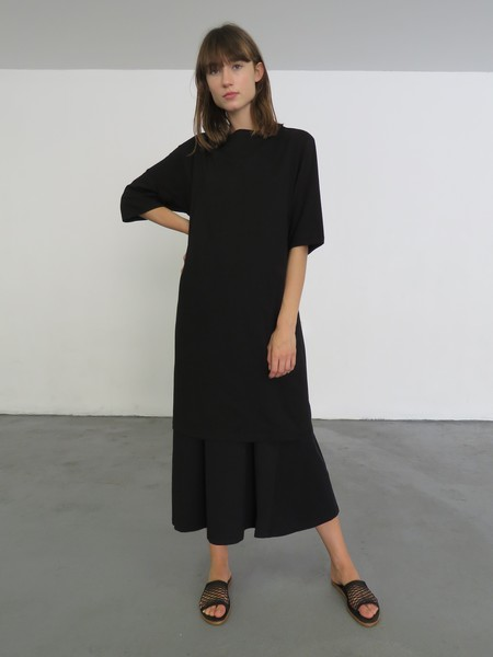 Kowtow Building Block Boat Neck Dress - Black
