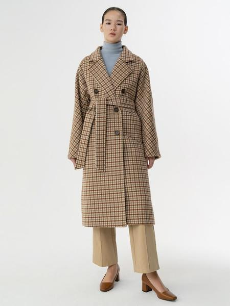 38comeoncommon Dolmal Check Coat - Brown