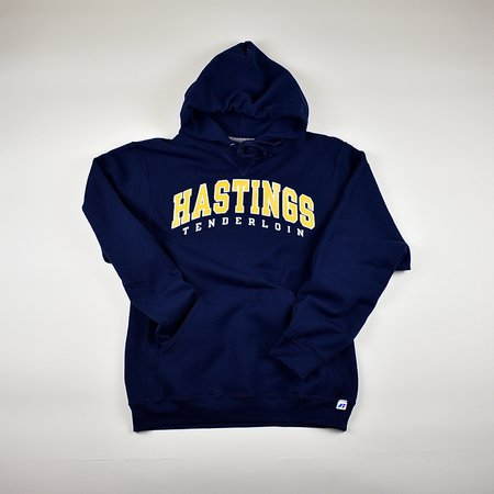 Tilted Brim for UC Hastings Hooded Sweatshirt - Navy