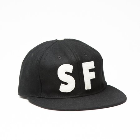 Ebbets Field Flannels X Tilted Brim The SF Hat - Black