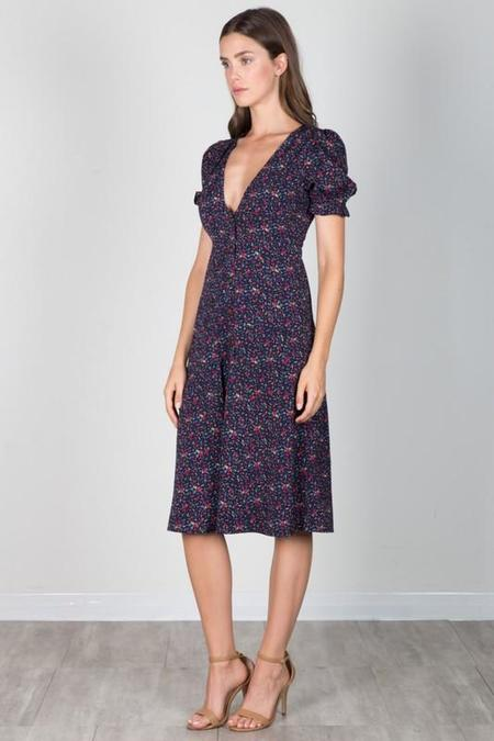 essue Hello Dolly Floral Midi Dress - Navy