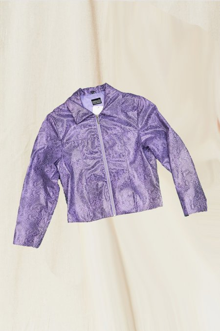 Vintage Snakeskin Jacket - Purple