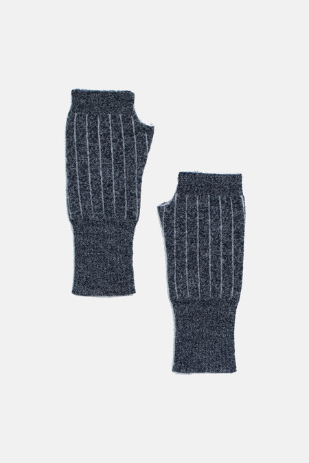 Micaela Greg Speckle Grey Pinstripe Fingerless Gloves