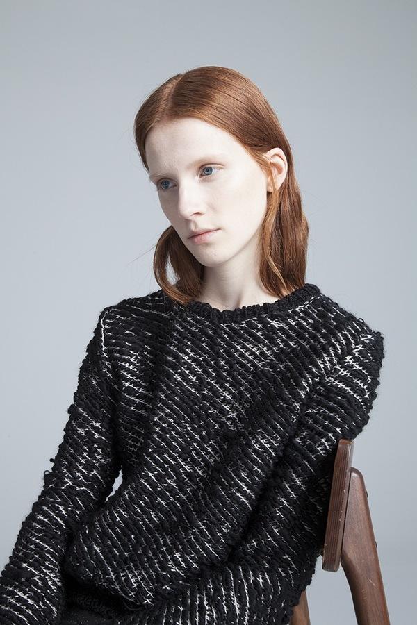 Kieley Kimmel Knit Weave Pullover - black