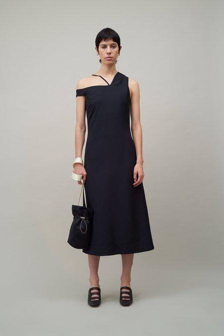 Nomia Asymmetric Off Shoulder Dress - Black