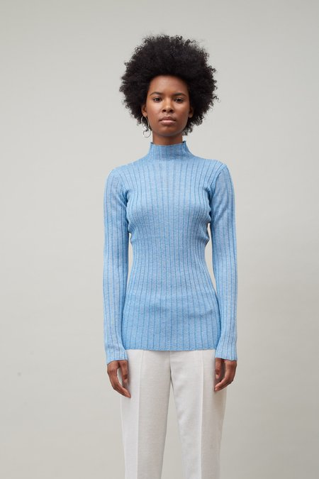 Nomia Wide Rib Turtleneck - Water