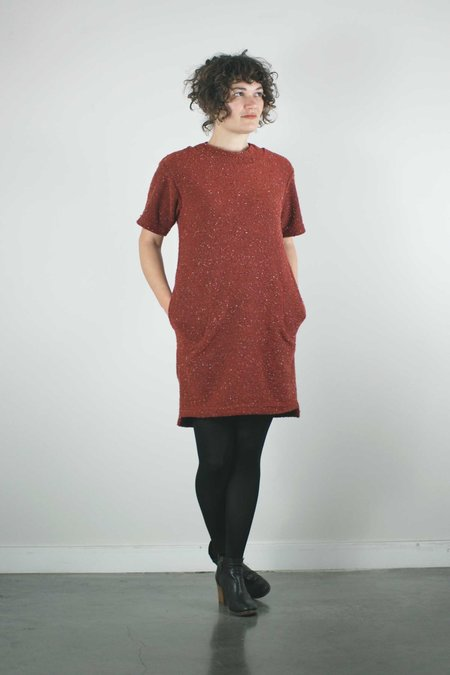 North Of West Pebble Knit Dress - Ruby