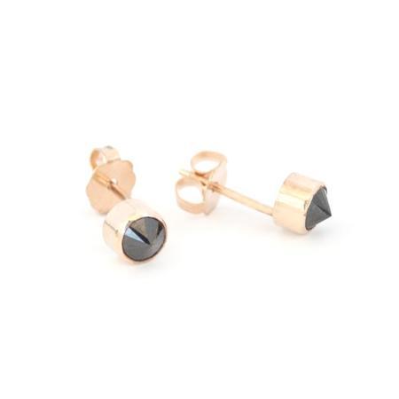 Favor Black Spike Posts Earrings